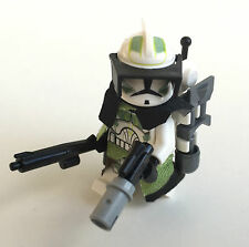 Lego Star Wars Custom cuerno Clone Trooper capitán + Top Custom Equipment