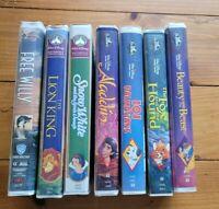 Walt Disney Black Diamond VHS lot 101 Dalmatians, Aladdin, beauty and the beast