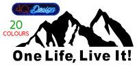 Large ONE LIFE LIVE IT. Car/Van/ caravan/ boat Window Sticker -  2ft x 1ft