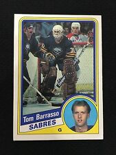TOM BARRASSO ROOKIE OPC SABRES / PENGUINS RC O-PEE-CHEE 1984-85 HOCKEY CARD