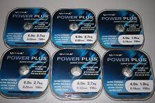 50 ROLLS OF ULTIMA POWER PLUS  ULTRA STRONG MONOFIL FISHING LINE (SHEFFIELD).
