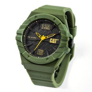 Caterpillar CAT LC.181.28.131 Men's Green Sport Rubber Watch 100% Authentic