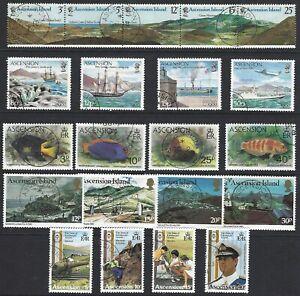 ASCENSION 1978/82 Commemorative Sets (10) 1 Single + 4 Miniature Sheets CTO