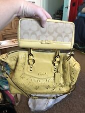 coach F21929 ashley lace leather handbag & wallet satchel purse sholder bag