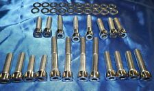 CHEVY TPI -SLP INTAKE RUNNER BOLTS-STAINLESS  POLISHED ALLEN HEAD