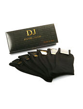 6 Men's 100% mercerized cotton socks.Plain Smooth. Gift boxed.  Made in Italy