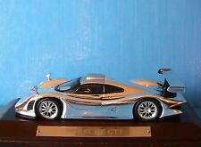 PORSCHE 911 (996) GT1 1998 METAL CHROME IXO 1/43 WOODEN BASE 996 ALTAYA