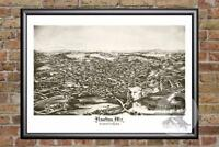 Vintage Houlton, ME Map 1894 - Historic Maine Art - Old Victorian Industrial