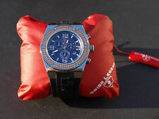 Swiss Legend Men's Throttle Chronograph Braided Bezel, Blue Face  30025-05-BB SL
