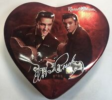 Elvis Presley Russell Stover Candy 2003 Valentine Red Heart Original Empty Tin