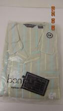Vintage 80s BON JOUR  Mens Striped Pajamas  Size 3X Gray