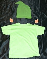 Link From Zelda Shirt, Ears & Hat Halloween Costume Kids Boys Size: 8-10 M Youth