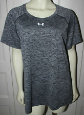 Under Armour Shirt Twisted Tech Locker Womens size XL Extra Large Black Tee