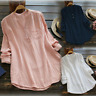 US Women Summer V Neck Blouses Casual Loose Baggy Tops Tunic T Shirts Plus Size