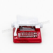 Vintage Typewriter Metal Simulation Miniature Dollhouse Toy Red Decor Gift Cute