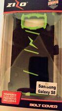 Zizo Samsung Galaxy S8 Case, Bolt Case Cover Kickstand Holster Green/Black