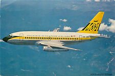 Boeing 737-112 Fanjet in Flight ~MALAYSIA-SINGAPORE AIRLINES~ Rare Old Postcard