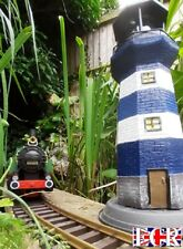 More details for new outdoor rotating solar 40cm lighthouse g scale garden railway light house