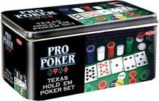Malette de poker ensemble de 280 jetons 2 jeux de cartes 5 dés 1 Bouton dealer