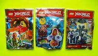 3 Lego Figuren Ninjago Ronin Aeroklingen Clouse Sawyer Waffen Neu Ninja Figur