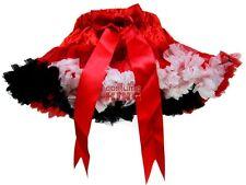 Girls Red Black White Party Skirt Pettiskirt Tutu S