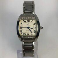 Klaus Kobec Womens Charisma Stainless Steel Date Indicator 14 Diamond Watch