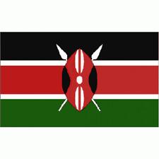 Kenya Flag Banner Sign 3' x 5' Foot Polyester Grommets