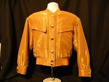 Escada Jacket Women's Quilt Lined Shiny Gold Buttons size 38