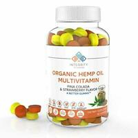 Integrity Vitamins Organic Hemp Oil 2,250mg Gummy Vitamins, All Natural - 90ct
