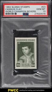 1964 Slania Stamps World Champion Cassius Clay Muhammad Ali #23 PSA 10 GEM MINT