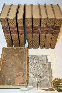 Storia Naturale BOTANICA - Bonnet: Oeuvres de Histoire Naturelle 9 volumi 1779