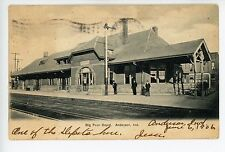 Big Four Train Depot ANDERSON IN Antique Train Station UDB PC ca. 1906