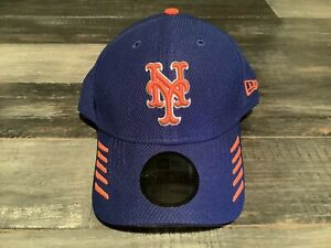 Men's New York Mets New Era 39Thirty Blue Tech Grade MLB Flex Fit Hat NWT S/M