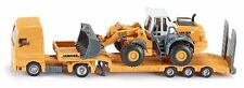 FARMER SIKU 1839 Low Loader / Liebherr 580 Front End Loader 1:87 Diecast Model