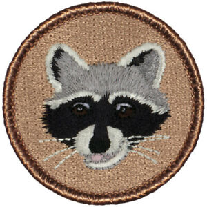 """Raccoon Patrol Patch - 2"""" Round Embroidered Patch"""