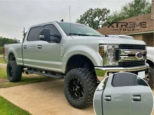 UX Ingot Silver Painted 17-21 Ford F250 F350 Door Handle Covers Color Match Set