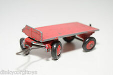 DINKY TOYS 25G 25 G SMALL TRAILER RED GOOD CONDITION.
