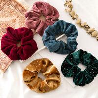 Women Velvet Soft Hair Ring Tie Rubber Band Elastic Hair Rope Scrunchie Ponytail