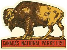 Canada National Parks   Vintage 1950's Style  Travel Decal   Sticker