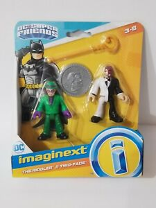 imaginext DC Super Friends The Riddler & Two-Face New in Box Toy Sale In Hand