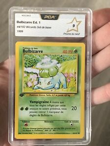 Bulbizarre 44/102 1st Edition Pokemon Edition 1 PCA 9 PSA? No Dracaufeu