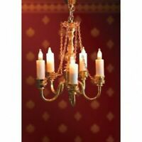 1/12 Streets Ahead Dolls House 5 Candle Deluxe Chandelier Ceiling Light DE088
