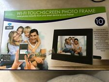 WI-FI TOUCHSCREEN PHOTO FRAME 10INCH SEND PHOTOS INSTANTLY FRM SMART DEVICE