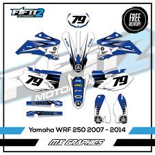 Yamaha WRF 250 WR Graphics Kit 2007 2008 2009 2010 2011 2012 Motocross Decals