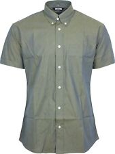 Relco Short Sleeve Tonic Shirt - Gold / Blue 60s Button Down Mod Skin XXL