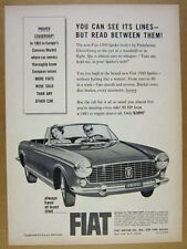 1964 Fiat 1500 Spider convertible car art vintage print Ad