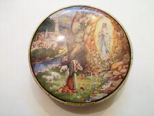 Ancienne boite en métal - Souvenir de Lourde - La vierge - 3 Photos