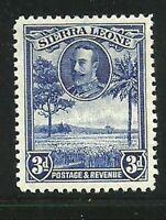Album Treasures Sierra Leone Scott # 144  3p George V  Rice Field MH