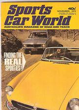 Sports Car World 1972 Nov Mercedes 350SL Torana XU1 Falcon Hardtop Triumph TR4 J