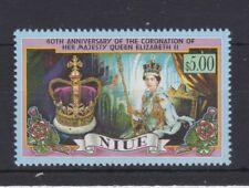 QEII 1993 40th Anniversary Coronation MNH Stamp Set Niue SG 773